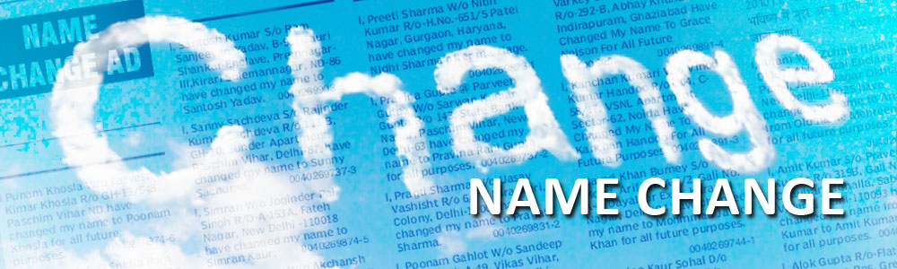 Name Change  Newspaper Classified Advertisement