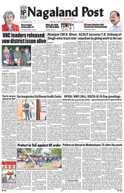 Nagaland Post Newspaper Advertising