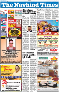 The Navhind Times Newspaper Advertising
